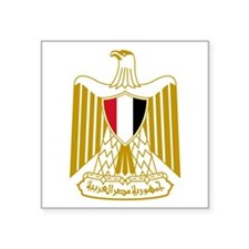 "Egyptian Coat Of Arms Square Sticker 3"" X 3&q"