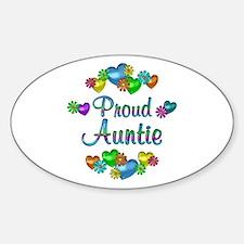 Proud Auntie Sticker (Oval)