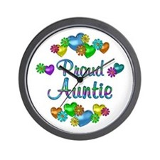 Proud Auntie Wall Clock
