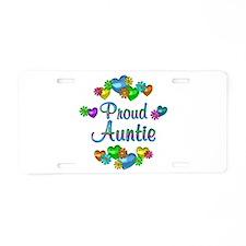 Proud Auntie Aluminum License Plate