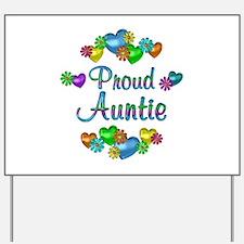 Proud Auntie Yard Sign