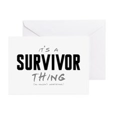 It's a Survivor Thing Greeting Cards (20 pack)