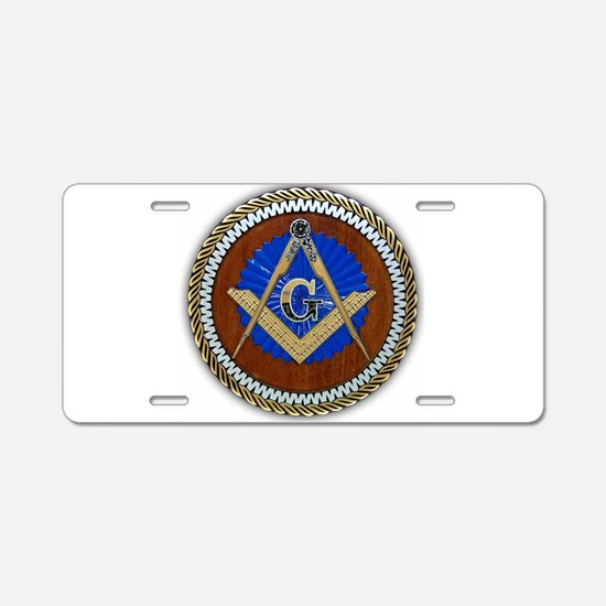 masons Aluminum License Plate