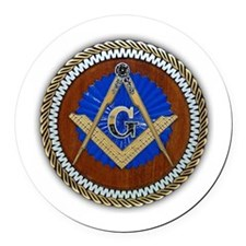 masons Round Car Magnet