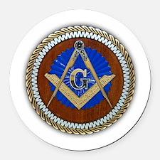 masons Round Car Magnet