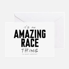 It's a Amazing Race Thing Greeting Card