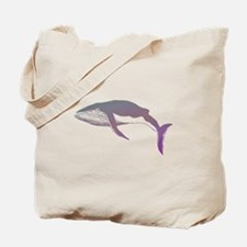 Cool Purple & Mauve Whale Design Tote Bag