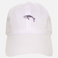 Cool Purple & Mauve Whale Design Baseball Baseball Cap