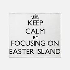 Keep Calm by focusing on Easter Isla Throw Blanket