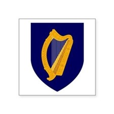 "Coat Of Arms Of Ireland Square Sticker 3"" X 3"