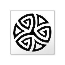 "Celtic Tribal Circle Tattoo Square Sticker 3"""