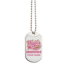 Worlds Best Drummer personalized music Dog Tags