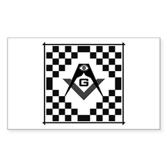 Masonic Tiles - Checkers Rectangle Decal