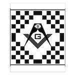 Masonic Tiles - Checkers Small Poster