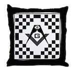 Masonic Tiles - Checkers Throw Pillow