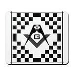 Masonic Tiles - Checkers Mousepad