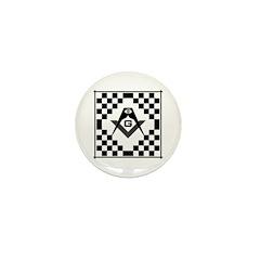 Masonic Tiles - Checkers Mini Button
