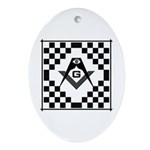 Masonic Tiles - Checkers Oval Ornament