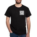 Masonic Tiles - Checkers Dark T-Shirt