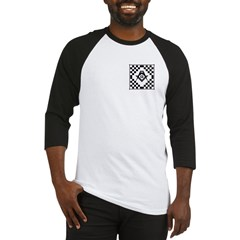 Masonic Tiles - Checkers Baseball Jersey