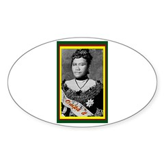 Young Queen Liliuokalani Oval Decal