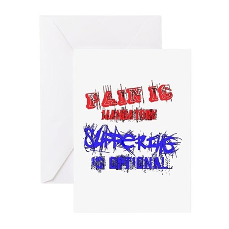 Pain is Mandatory Greeting Cards (Pk of 10)