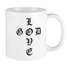 LOVE GOD -CROSS- CHRISTIAN COFFEE Mug
