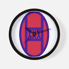 30th Armored Brigade Insignia.png Wall Clock