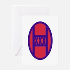 30th Armored Brigade Insignia Greeting Cards