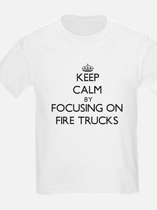 Keep Calm by focusing on Fire Trucks T-Shirt