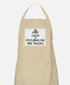 Keep Calm by focusing on Fire Trucks Apron