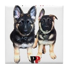 Power Papers Puppies Tile Coaster