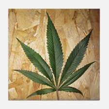 Kush Leaf Tile Coaster