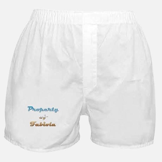 Property Of Fabiola Female Boxer Shorts