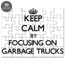 Keep Calm by focusing on Garbage Trucks Puzzle