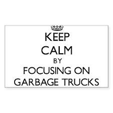Keep Calm by focusing on Garbage Trucks Decal