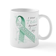 I Wear Teal For My Great Na Na Mugs