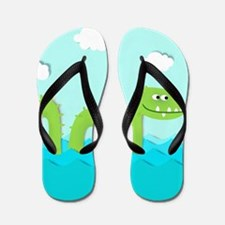Sea Monster Flip Flops