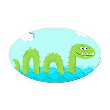 Sea Monster Oval Car Magnet