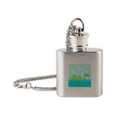 Sea Monster Flask Necklace