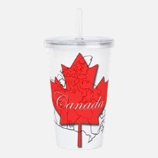 Canada Maple leaf with Acrylic Double-wall Tumbler