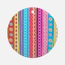 Colorful Stripes Ornament (Round)