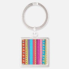 Colorful Stripes Keychains