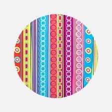 "Colorful Stripes 3.5"" Button"