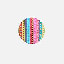Colorful Stripes Mini Button