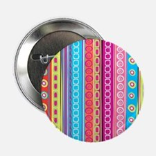 """Colorful Stripes 2.25"""" Button (10 pack)"""