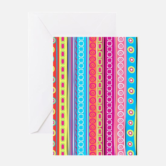 Colorful Stripes Greeting Cards