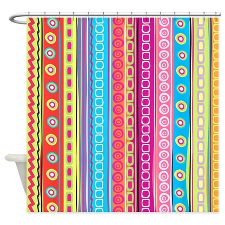 Colorful Stripes Shower Curtain By FuzzyChair