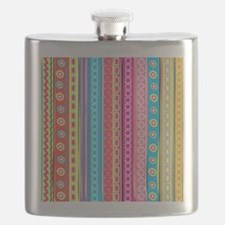 Colorful Stripes Flask