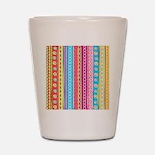 Colorful Stripes Shot Glass